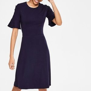 Boden Navy & Red Fit & Flare Dress